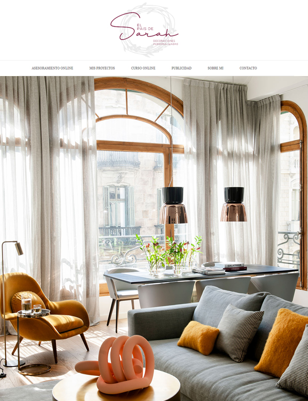 Web El País de Sarah | Mimouca Design
